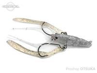 バイオベックス ジョイントテナガ - 58 #132 銀ラメクリアテナガ 58mm 1/4oz シンキング フック#2