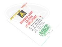 アングル アキスコ - スーパーAブレイデッドループリーダー #ホワイト 25lb  フライライン:#2-7