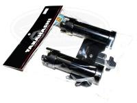 タナハシ製作所 カスタマイズパーツ -  ジョイントツインホルダー # ブラック フック&ラインキーパー搭載