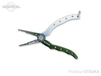 カハラジャパン プライヤー - 6.5インチ アルミスリムタイプ&マルチベイトホルダー #ダークグリーン/シルバー 6.5インチ ペンチホルダー付