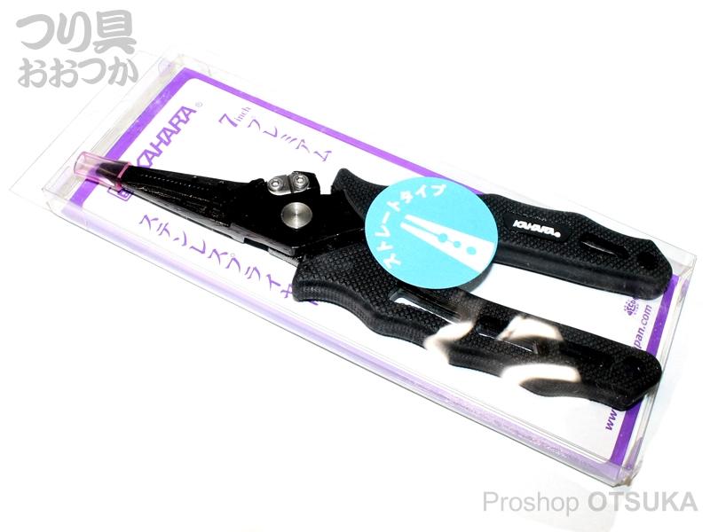 カハラジャパン プライヤー 7インチ プレミアムステンレスプライヤー ストレートタイプ ストレートタイプ 160g # ブラック