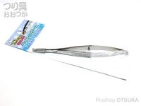 嶋屋 ナヌーク - ベイトシザース # シルバー 全長118mm 先端刃16mm ステンレス