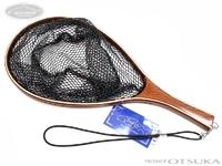 嶋屋 インディゴ - トラウトランディングネット 網深さ約19cm サイズS W約18×H約28×全体約42cm