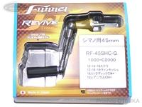 リヴァイブ ファンネル - スピニング用カーボンハンドル #ゴールド RF-45SHC-G シマノ用45mm