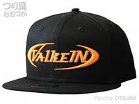 ヴァルケイン フラットキャップ -  #ブラック/蛍光オレンジ フリー