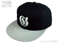 ガンクラフト オールドイングリッシュスナップバックキャップ -  #08 BK/グレーロゴ フリー