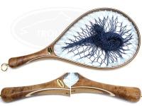 スプリーモ プラウ - 30ショートグリップ #ブルー(スカイブルー&インディゴ) 全長45cm ネット内径:29cmX21.5cm