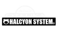ハルシオンシステム ステッカー - ハルシオンロゴ #ブラック S 170mm×25mm