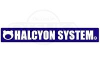 ハルシオンシステム ステッカー - ハルシオンロゴ #ブルー S 170mm×25mm