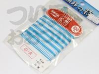 下田漁具 ガス糸 -  100m 白×青