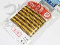 下田漁具 ガス糸 -  100m 黄×茶