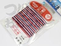 下田漁具 ガス糸 -  100m 赤×白×紺