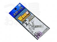 下田漁具 ダブルボールベアリング - 2連結インターロック付き  2号 強度10kg