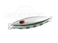 下田漁具 ゼスタ スローエモーション フラップ -  #52 パールホワイト/ブラックゼブラグロー 180g