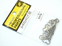下田漁具 ゼスタ ハードソリッドリング - バリューパック シルバー サイズ6(800lbオーバー) 内径6.1mm