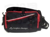 アングラーズデザイン AD・ウエストバッグIV - ADB-27RS #レッドステッチ 30×23×15cm