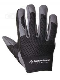 アングラーズデザイン グローブ - スリップオンオフショア ADG-15 #ブラック サイズL