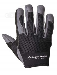 アングラーズデザイン グローブ - スリップオンオフショア ADG-15 #ブラック サイズLL