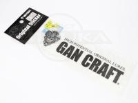ガンクラフト オリジナルステッカー - オリジナルトランスファーステッカー #01 ブラック 転写式 17.5×6cm