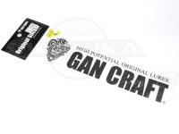 ガンクラフト オリジナルステッカー - オリジナルトランスファーステッカー #01 ブラック Mサイズ 転写式 21cm×5.2cm