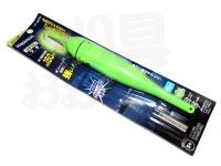 ハピソン 緑発光 ラバートップミニウキ - YF-8624 #緑発光 適合オモリ 5.0号相当