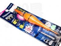 ハピソン 赤発光 ラバートップミニウキ - YF-063DL #赤色光 適合オモリ大大 5B相当