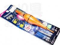 ハピソン 赤発光 ラバートップミニウキ - YF-065DL #赤色光 適合オモリ 1号相当