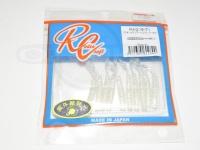 ロデオクラフト ライトゲームソフトルアー - ラグ 004 UVクリアー/シルバーラメ 2インチ