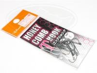 ロデオクラフト シングルフック - ロデオクラフト ハニカムTフック ロングシャンク フッ素コート - サイズ #4