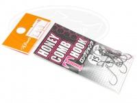 ロデオクラフト シングルフック - ロデオクラフト ハニカムTフック ロングシャンク フッ素コート - サイズ #8