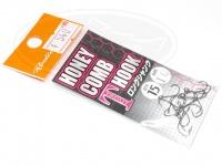 ロデオクラフト シングルフック - ロデオクラフト ハニカムTフック ロングシャンク フッ素コート - サイズ #10