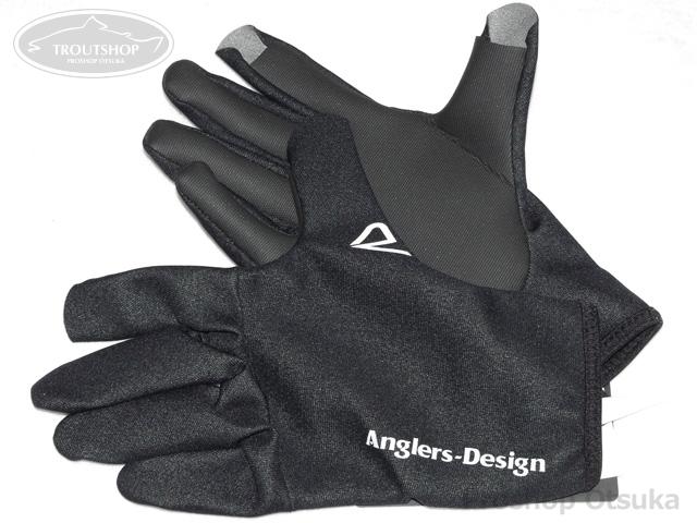 アングラーズデザイン グローブ ADG-11 アナトミカル タイタニュームグローブ #M #ブラック