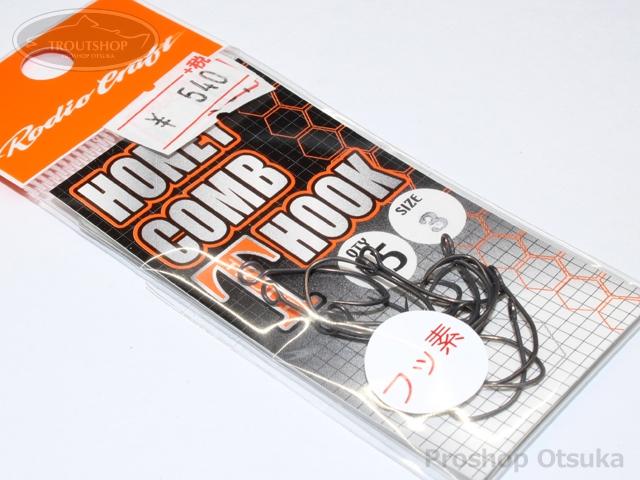 ロデオクラフト シングルフック ロデオクラフト ハニカムTフック フッ素コート サイズ #3 -