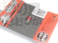 ソルトウォーターボーイズ リールラインストッパー -  #アカ 標準タイプ ネジ付き