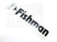 フィッシュマン ステッカー - フィッシュアイコン #ブラック/カッティング