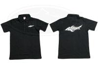 ロデオクラフト ポロシャツ - 5.3オンス  #ブラック/ホワイト Sサイズ