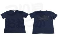 ロデオクラフト Tシャツ - 6.5オンス  #ネイビー/ブラック Lサイズ