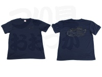ロデオクラフト Tシャツ - 6.5オンス  #ネイビー/ブラック XLサイズ