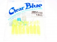 クリアブルー ワーム - エビフライ  #03 レモンホロ サイズ1.5インチ