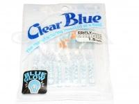 クリアブルー ワーム - エビフライ  #21-2 BGブルーホロ サイズ1.5インチ