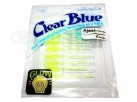 クリアブルー ワーム - アジール  #13 チャートグローホロ サイズ2.0インチ