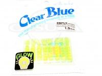 クリアブルー ワーム - エビフライ  #13 チャートグローホロ サイズ1.5インチ