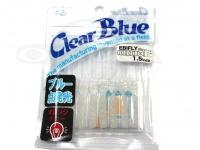 クリアブルー ワーム - エビフライ  #38-1 OGブルースター サイズ1.5インチ