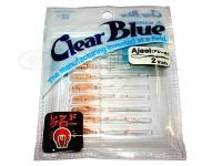 クリアブルー ワーム - アジール  #41 RG桜えび サイズ2.0インチ