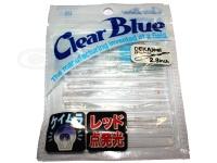 クリアブルー ワーム - デカジール #46 ブラッドムーン サイズ2.8インチ