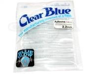 クリアブルー ワーム - アジボーン #21-2 BGブルーホロ サイズ2.2インチ