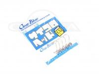 クリアブルー ジグヘッド - サイコロヘッド #シルバー 1.3g