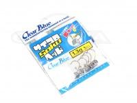 クリアブルー ジグヘッド - サイコロヘッドソク #シルバー 1.3g