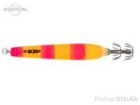シーフロアコントロール スッテQ -  #5 ピンクオレンジゼブラ 25号 93g