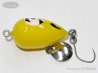 リプライ プラスチックプラグシリーズ - ポケットクラッチ #黄ダルマ 23mm 1.9g